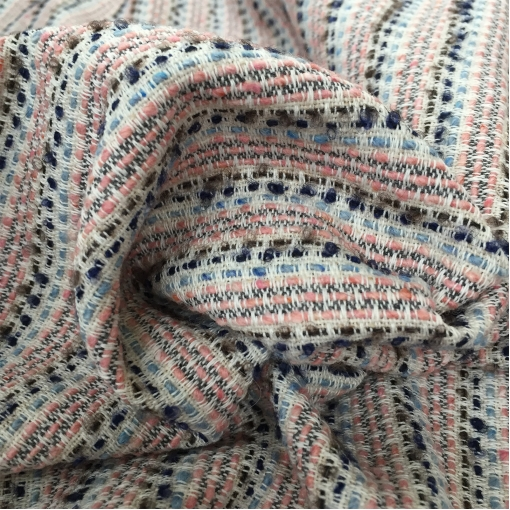 Шанель летняя хлопковая розовые и голубые полосы