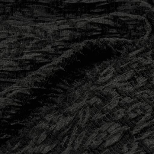 Черный крешированный жаккард с вензелями