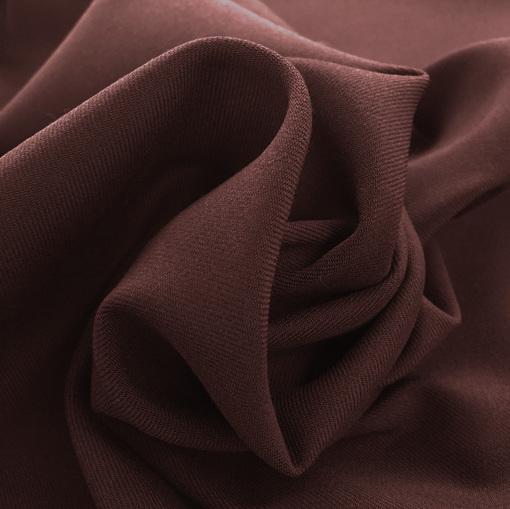 Ткань костюмная креповая стрейч пыльно-свекольного цвета