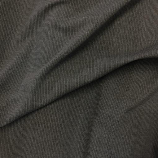 Ткань костюмная шерстяная элегантная серая полоска