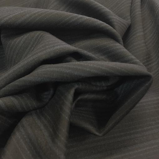 Ткань костюмная комфорт полоска на черном фоне