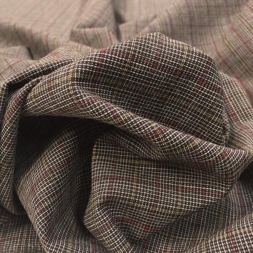 Ткань костюмная cтрейч Sportmax разноцветная клеточка