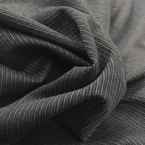 Ткань костюмная cтрейч Sportmax серо-черные полоски