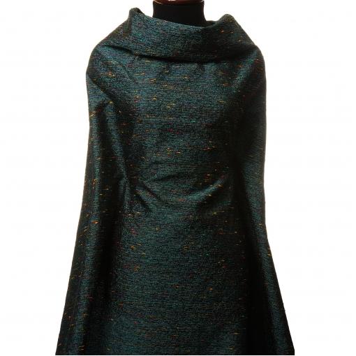 Нарядная костюмная шанель голубой тон с разноцветными нитями
