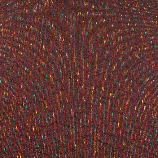 Костюмная нарядная шанель винного цвета с цветными нитями