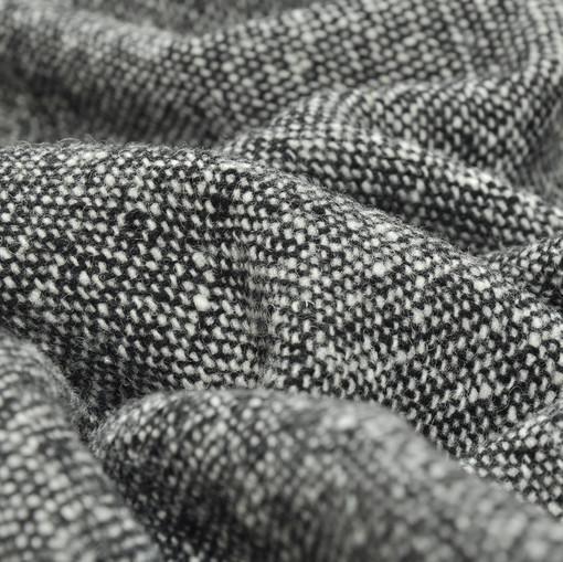 Благородный шерстяной твид черно-белого цвета
