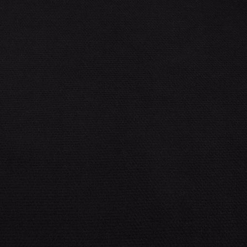 Черный шерстяной теплый трикотаж типа рогожки