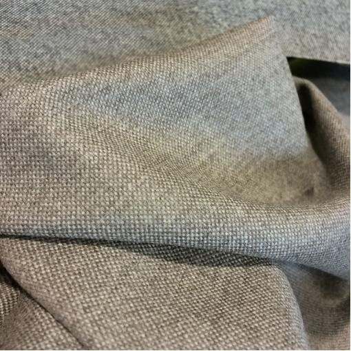 Твид стрейч шерстяной с ангорой серо-бежевого цвета