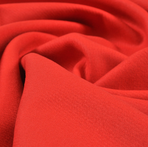 Красная пальтовая шерсть