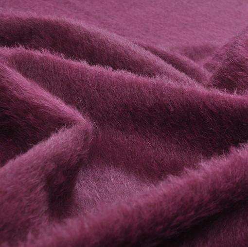 Шерсть пальтовая натуральная цвета сливы, с ворсом