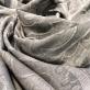 Шарф легкий с бахромой  жаккардовые серо-коричневые огурцы