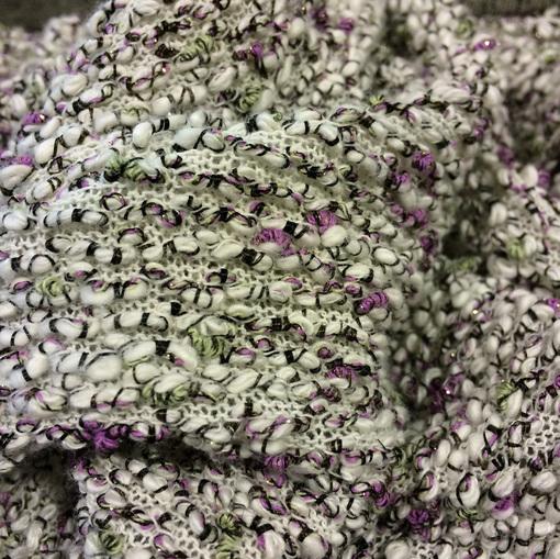 Трикотаж зимний розово-оливковое букле Missoni