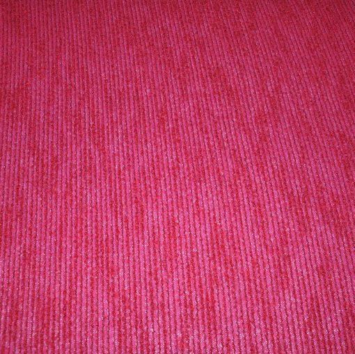 Трикотаж буклированный фуксия с красным
