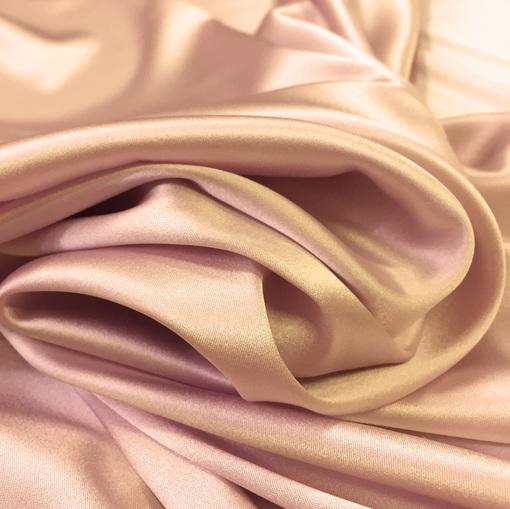 Шелк атласный стрейч La Perla теплого розового цвета