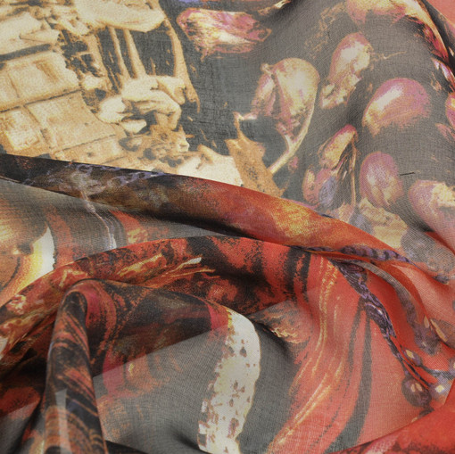 Шифоновый шелк Versace индийский пэчворк