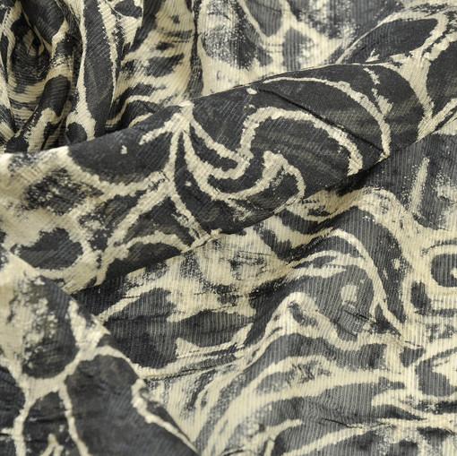 Шифон шелк с шерстью жаккардовый винтажный