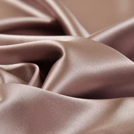 Атласный шелк цвета какао