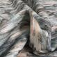 Вискоза стрейч со льном ESCADA абстракция в бирюзово-бежевых тонах