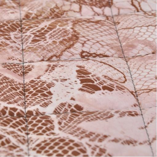 Курточная стеганная ткань принт под кружево