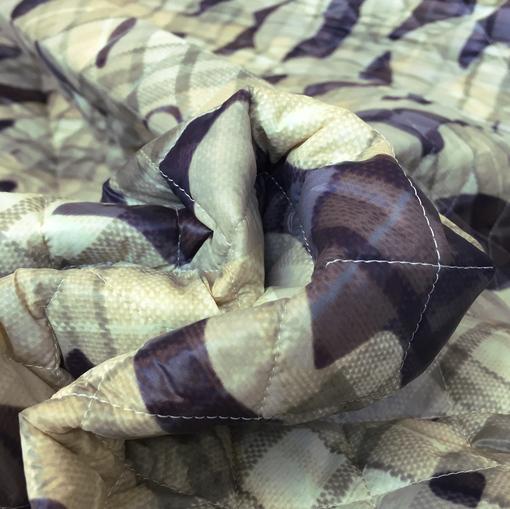 Ткань курточная стеганная двухсторонняя в стиле милитари
