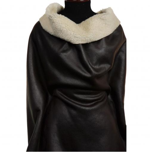 Остаток курточно-дубленочная ткань из искусственной кожи и меха