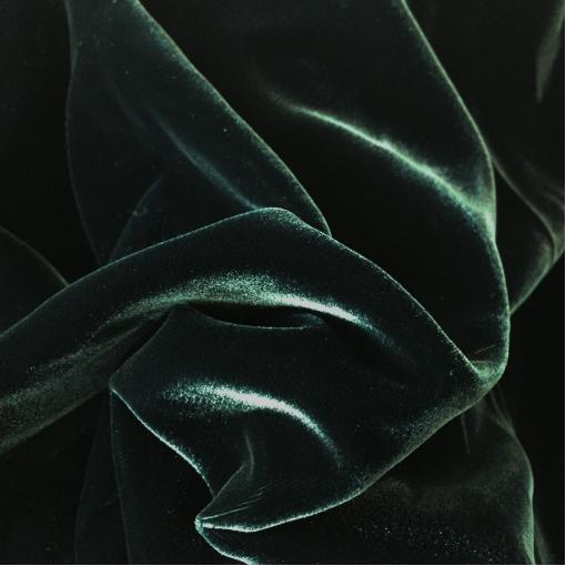 Бархат вискозный стрейч Valentino темно-зеленого цвета