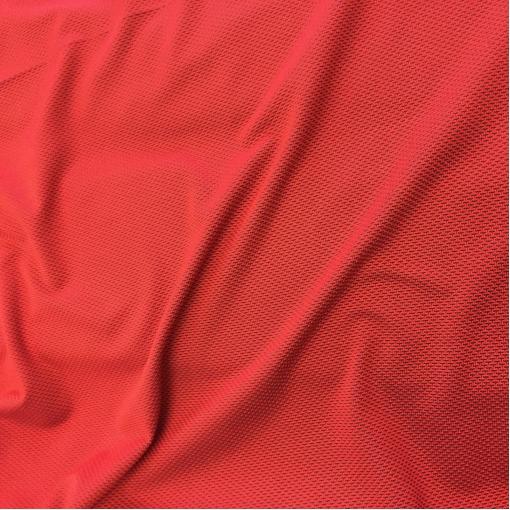 Джерси вискозное стрейч Hermes сине-красный орнамент