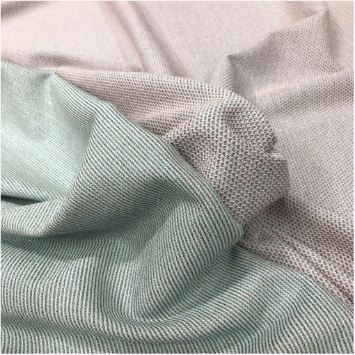 Джерси вискозное стрейч с нежным люрексом в молочно-розово-голубой гамме