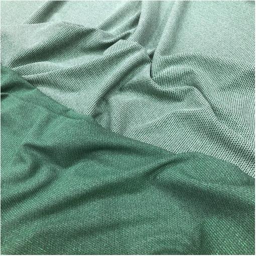 Джерси вискозное стрейч с нежным люрексом в зелёно-белой гамме