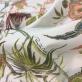 Хлопок костюмный стрейч принт Cavalli цветы и птицы на молочном фоне