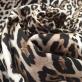 Хлопок костюмно-плательный стрейч принт леопард на песочном фоне