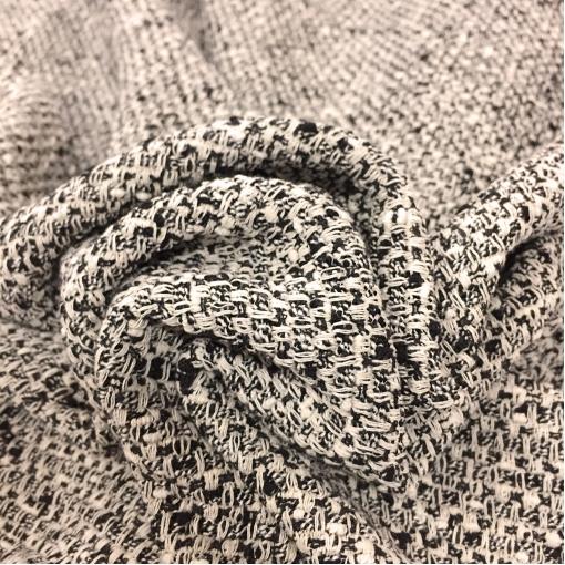 Шанель нарядная хлопковая черно-ванильного плетения