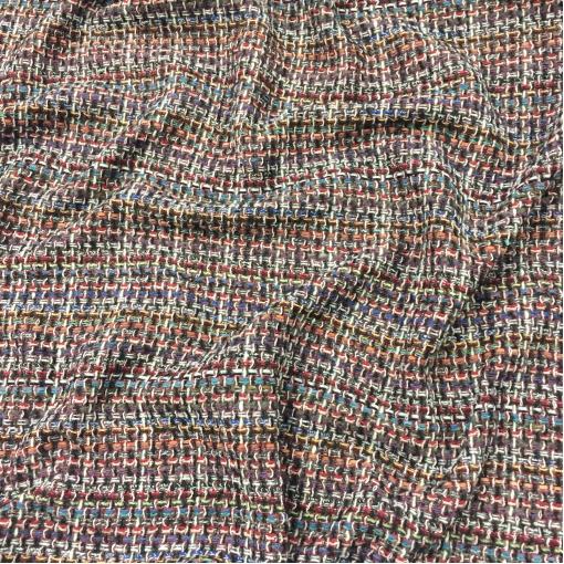 Шанель шерстяная цветные нити в баклажанно-красных тонах
