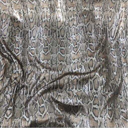 Трикотаж нарядный стрейч Blumarine с пайетками под рептилию