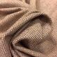 Твид костюмный стрейч шерстяной мелкая терракотовая клеточка