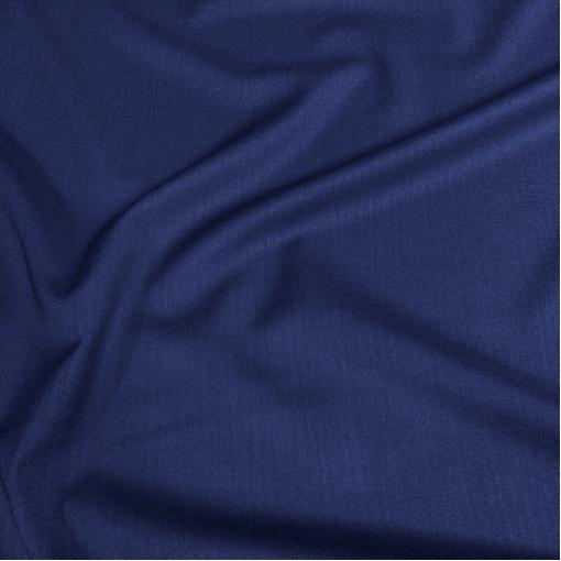 Ткань костюмная шерстяная Cerruti синего цвета в темную полоску