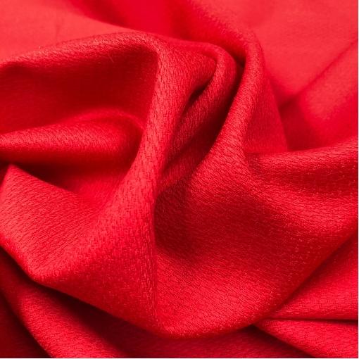 Ткань шерстяная плательная стрейч Valentino красно-малинового цвета