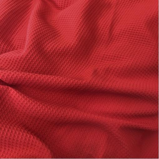 Ткань костюмно-плательная шерстяная ярко-красная жаккардовая клеточка