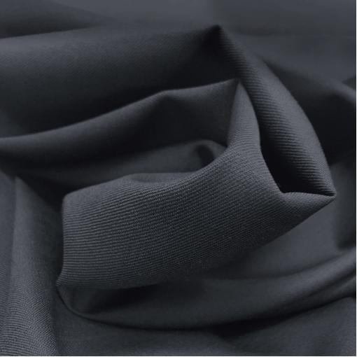 Ткань костюмная шерстяная тонкая Loro Piana черно-синего цвета с отливом