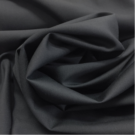 Ткань костюмная шерстяная летняя Loro Piana черного цвета с синеватым отливом