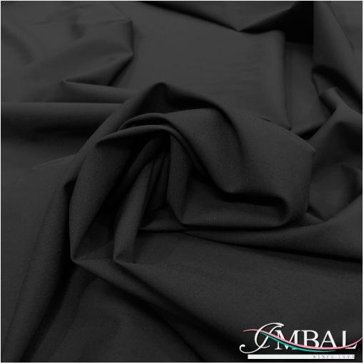 Ткань костюмная легкая шерстяная стрейч черного цвета