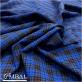 Ткань костюмная полушерстяная стрейч сине-черная клетка
