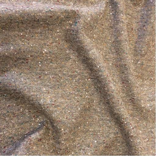 Твид костюмный шерстяной табачно-коричневого цвета
