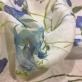 Лен деворе принт Blumarine нежные ирисы
