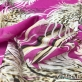 Муслин вискоза с шелком дизайн Just Cavalli перья на розовом фоне