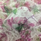 Кружево мягкое стрейч принт Blumarine розовые букеты
