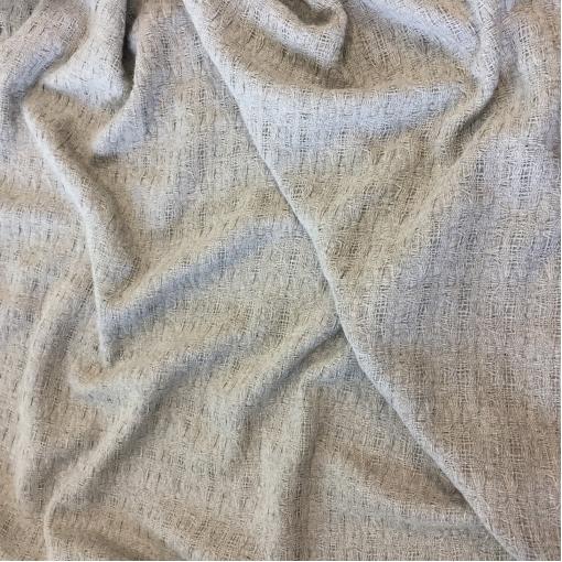 Кружево шерстяное двойное плетеное дизайна Sportmax средне-серого цвета