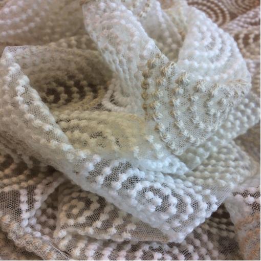 Кружево Alberta Ferretti шерстяное кольцевые узоры на сетке