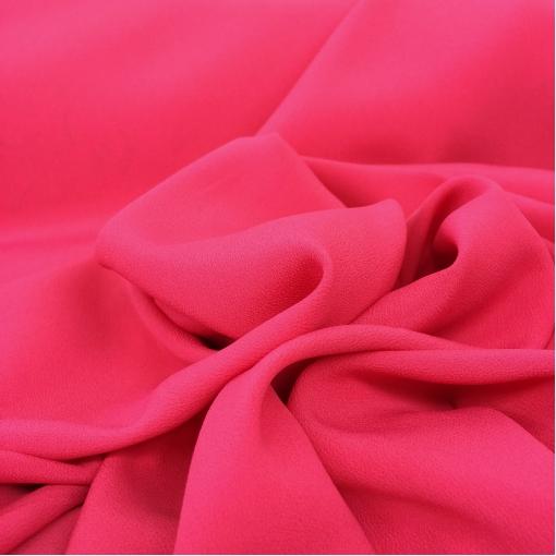 Шелк креповый плательный стрейч ярко-розовый цвет