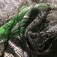 Шелк шифон принт продольный купон огурцы и зеленый орнамент